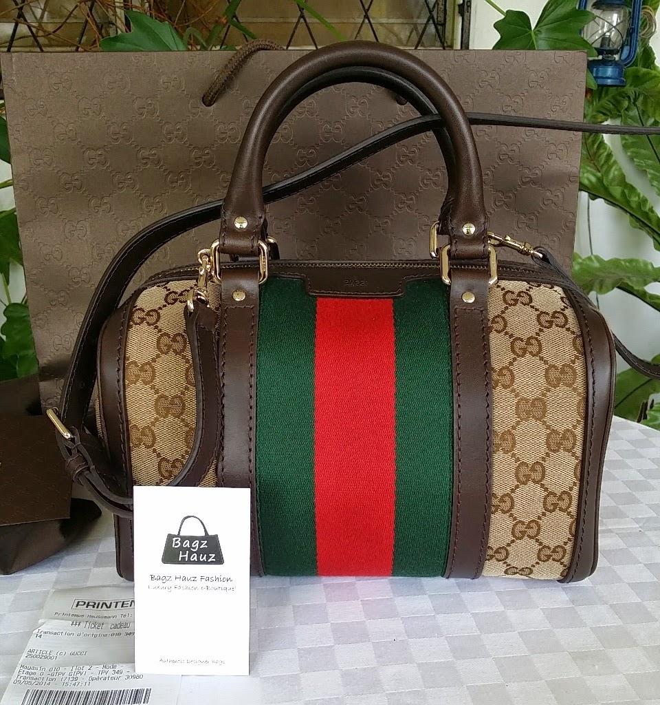 Gucci Vintage Web Original Gg Canvas Boston Bag For Dayang 1st Time Customer