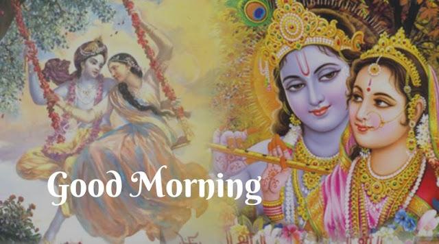 god radha krishna good morning images