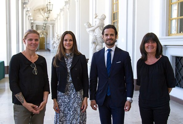 Prince Carl Philip and Princess Sofia attended a meeting with representatives of National Attention Association, that is, Madelein Larsson-Wollnik and Karin Torgny