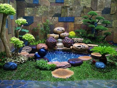Taman Relief 3D - dekorasi Taman | Jasa Tukang Taman Surabaya VII
