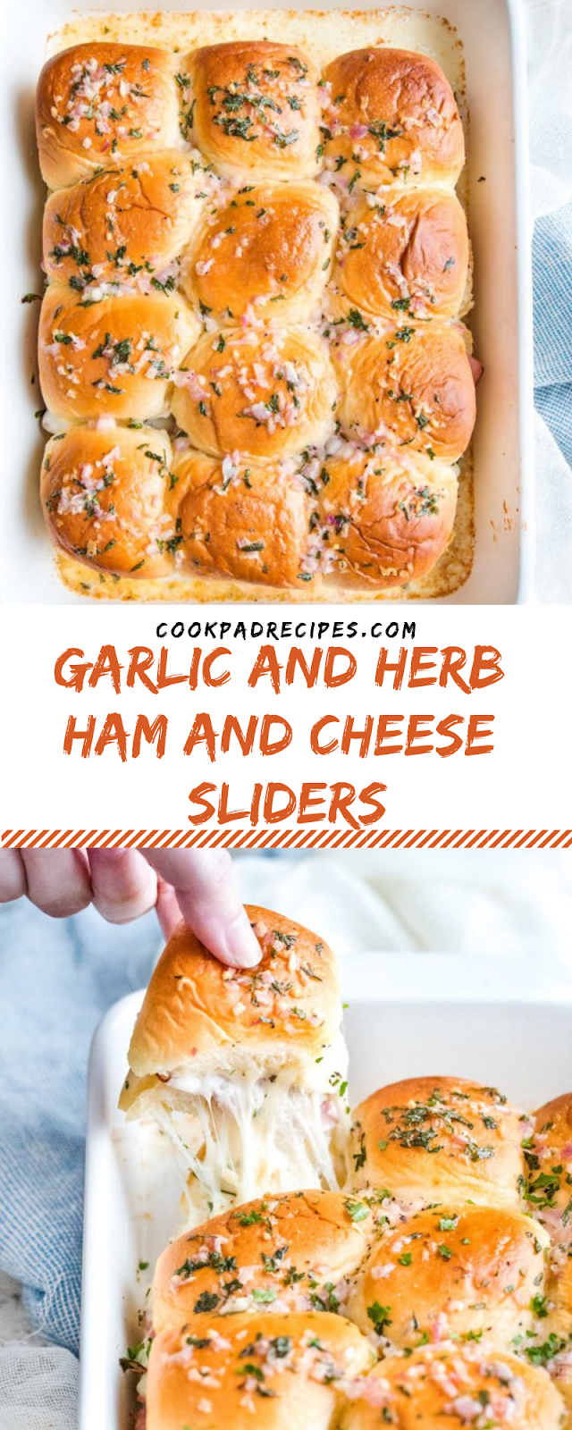 GARLIC AND HERB HAM AND CHEESE SLIDERS