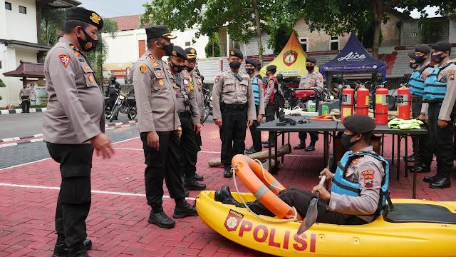 Kapolres Wonogiri Lakukan Pengecekan Kesiapan Kontijensi Penanggulangan Bencana