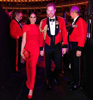 Harry and Meghan perfectly colour cordinated at the Mountbatten Festival in London March 2020