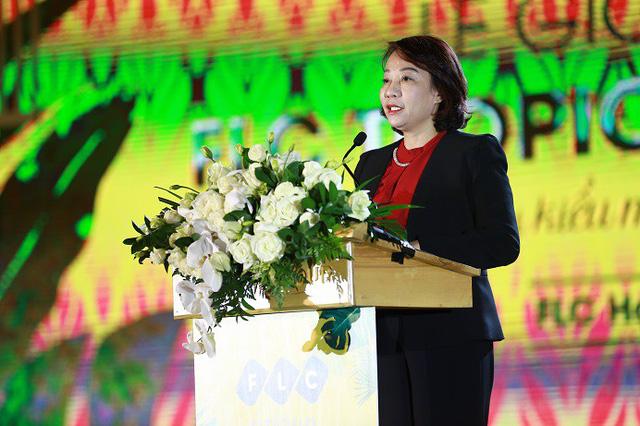 Bà Vũ Thị Thu Thủy phát biểu tại sự kiện