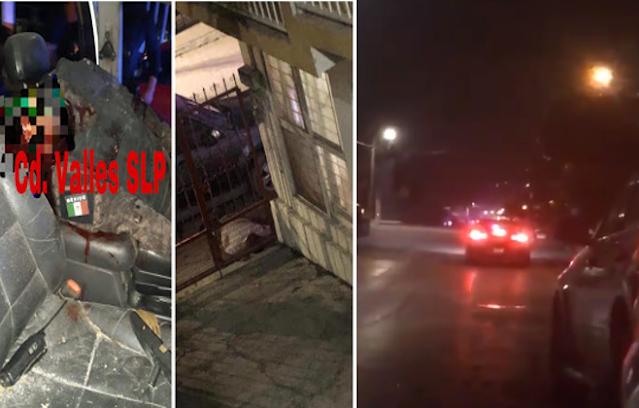 """Video: 4 Sicarios del CDG fueron dados de baja , fulminantes disparos en balacera  en Ciudad Calles San Luis Potosí ,""""nadie salga la pelotera esta que arde"""""""