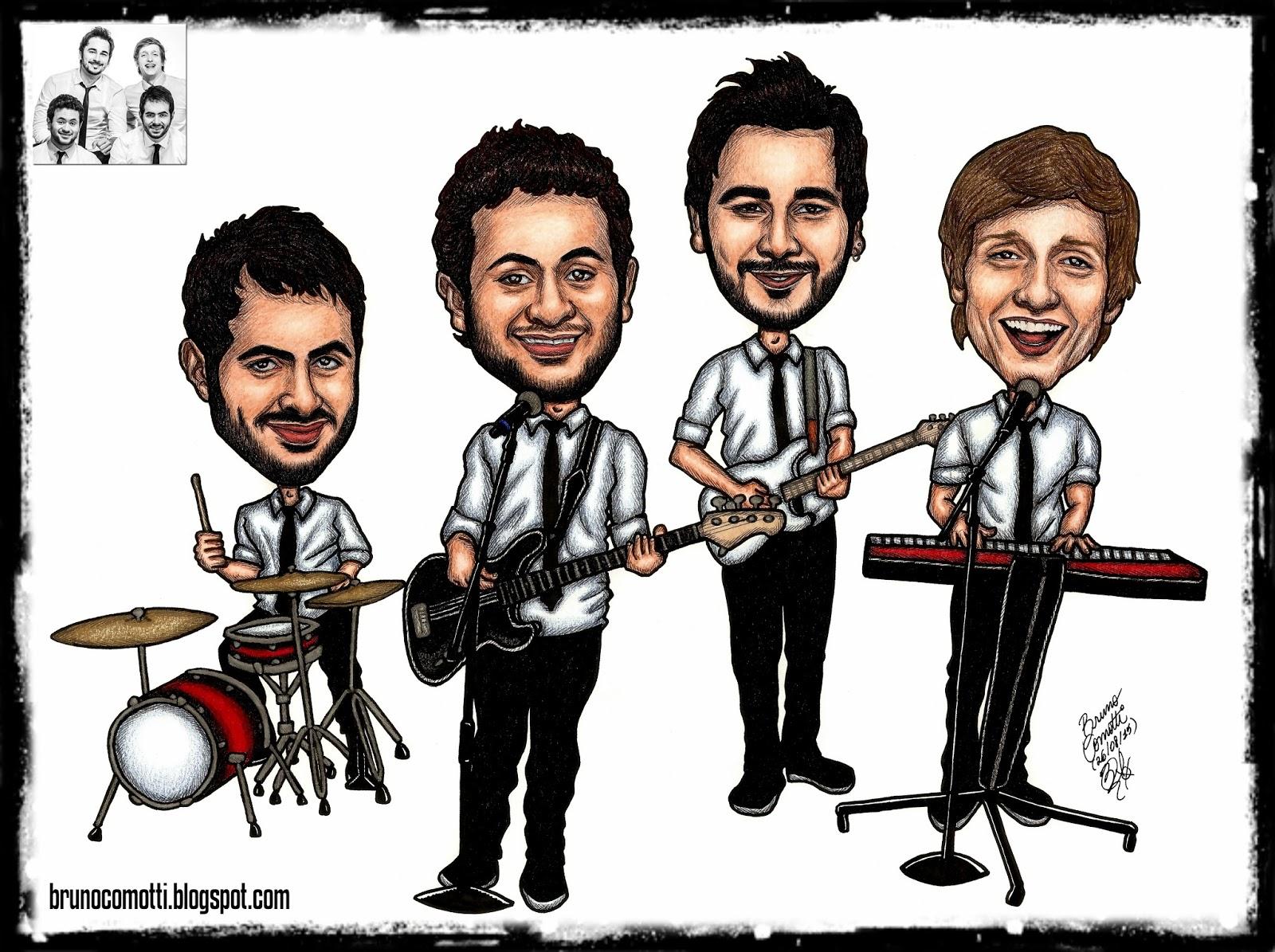 Bruno Comotti Ilustrações: Encomenda: Caricatura Banda Jamz