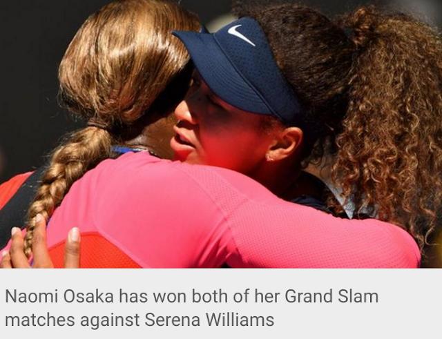 Naomi Osaka defeats Serena Willia to win both of her Grand Slam matches