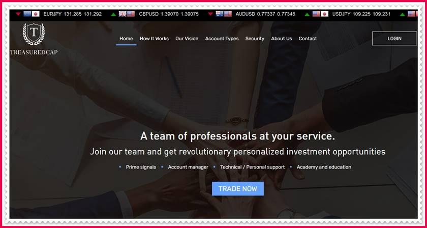Мошеннический сайт treasuredcap.com – Отзывы, развод! Компания Treasuredcap мошенники