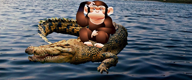 bandar aur magarmachch ki kahani, monkey and crocodile, bandar aur magar