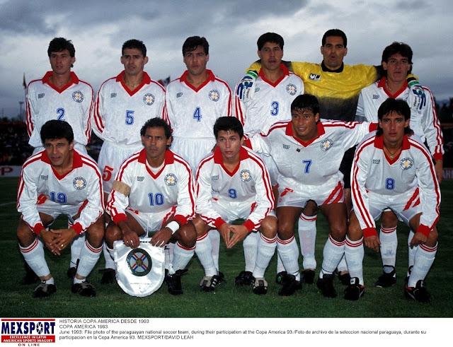 Formación de Paraguay ante Chile, Copa América 1993, 18 de junio