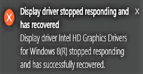 اصلاح خطأ Display Driver Stopped Responding في الويندوز