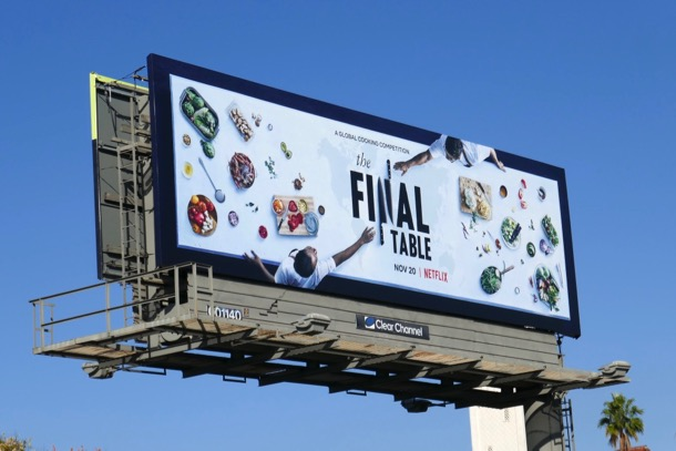 Final Table series launch billboard