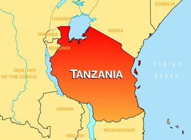 Ubicación de Tanzania
