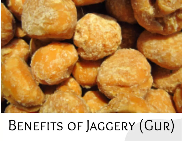 Benefits of Jaggery (Gur), Jaggery is very beneficial for your health. Eating Jaggery reduces the risk of many diseases and relieve Stomach problems.