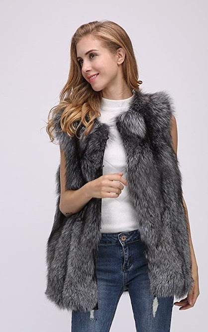 Luxury Genuine Real Fox Fur Vests