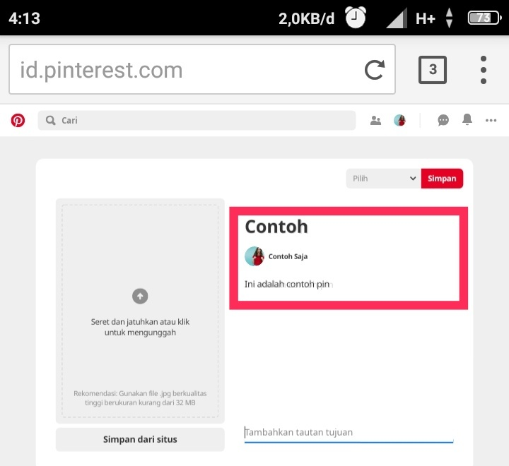 Cara mendapatkan traffic dari Pinterest