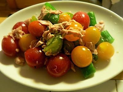シーチキンとカラートマトのサラダ