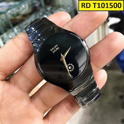 Đồng hồ đeo tay nam mặt tròn dây đá ceramic RD T101500