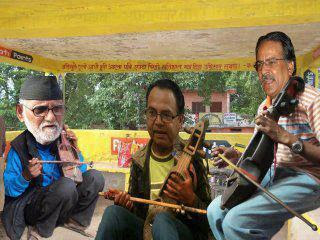 Funny Nepali photo of Prachand, Shusil Koirala and Jhalnath Khanal