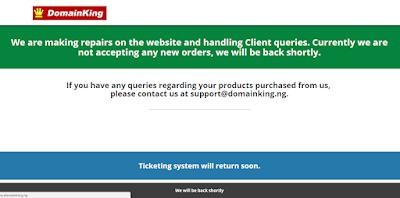 domainking nigeria website