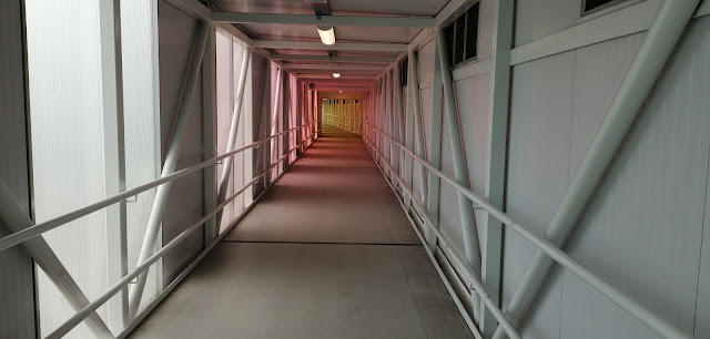 Covered walkway from Heathrow Terminal 4 to hotels
