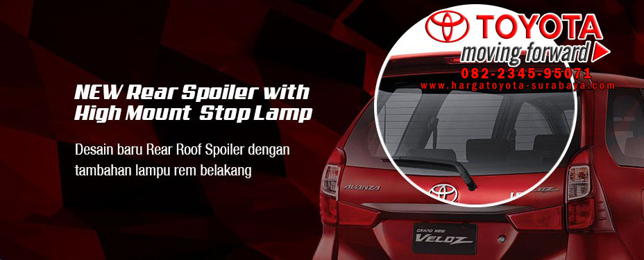 Grand New Avanza Lemot Agya 1.0 G M/t Trd Kelengkapan Luar Veloz 2015 Harga Toyota Hilux Pemberian Lampu Rem Pada Spoiler Belakang Sehingga Sangat Tampak Ketika Mobil Di Secara Cepat Maupun Lambat