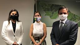 """Bittar, Jéssica e Roberto Duarte solicitam adesão do Acre ao """"Brasil Conta Comigo"""" no combate à Covid-19"""