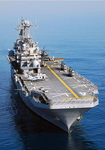USS Nassau, LHA-4 (Source: Wikipedia)