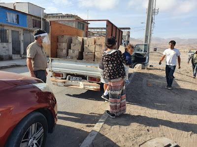 Supervisores de Collahuasi entregan ayuda solidaria en Iquique y Alto Hospicio