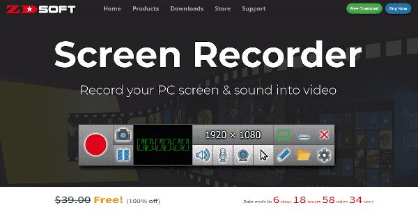 تحميل برنامج تصوير الشاشه ZD Soft Screen Recorder لعمل الشروحات