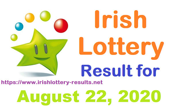 Irish Lottery Results for Saturday, August 22, 2020