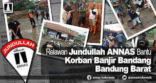 Aliansi Nasional Anti Syiah Bantu Korban Banjir Bandang Bandung Barat