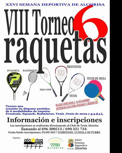 VIII Torneo 6 raquetas