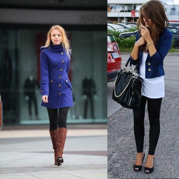 Синий пиджак женский - с чем носить (много фото и советов)