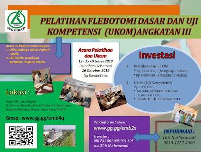 Pelatihan Flebotomi Dasar Dan Uji Kompetensi (Ukom) Angkatan III DPC.Patelki Bogor Jawa Barat