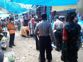 Tim Aparat Gabungan Ops Yustisi Menyasar Pasar Tradisional Bonto bonto Pangkep
