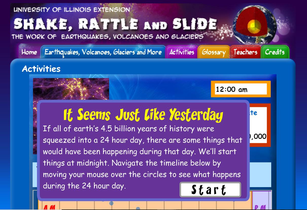 geologic time activity