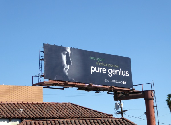 Pure Genius series launch billboard