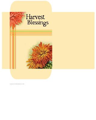 Free printable harvest blessing sachet mums