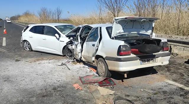 Urfa'da 3 otomobil kaza yaptı:  1 ölü, 5 yaralı