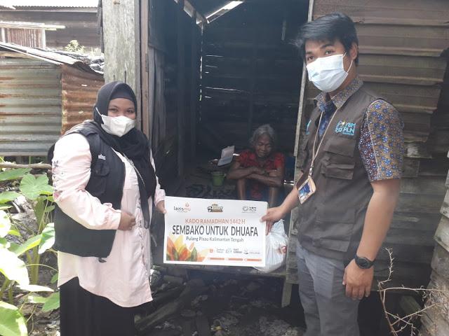 Lazismu Pulang Pisau Salurkan Bantuan Paket Sembako di Tiga Desa