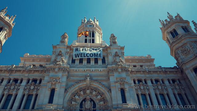 Madrid City Hall - Ayuntamiento de Madrid info and video in 4K.