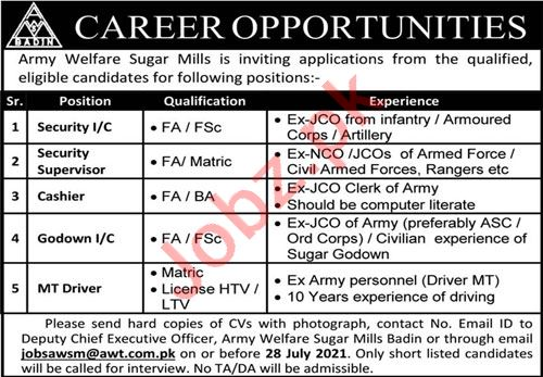 Jobs in Army Welfare Trust AWT