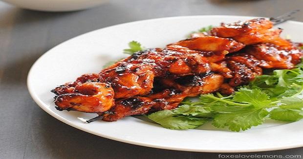 Sambal Chicken Skewers Recipe