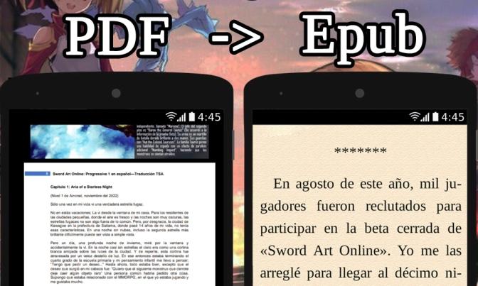 Convertir Novelas Ligeras Pdf A E Book Epub Y Un Celular