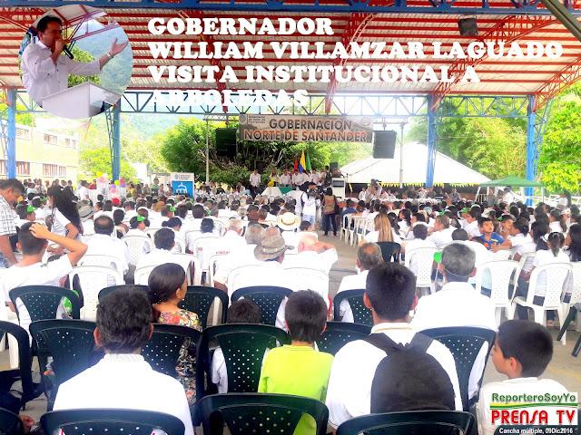 FélixContreras registra visita del Gob-NdeS William Villamizar a Arboledas #RSY #OngCF