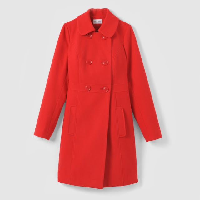 cappotto rosso in saldo