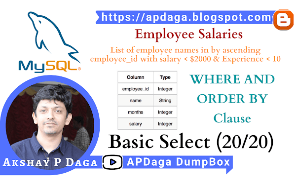 HackerRank: [Basic Select - 20/20] Employee Salaries |  ORDER BY in SQL