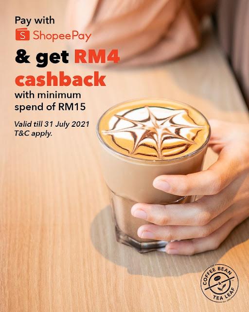 The Coffee Bean & Tea Leaf Malaysia ShopeePay