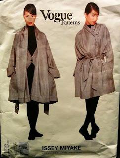 Vogue 1836 Issey Miyake oversized unlined coat
